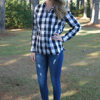 Buffalo Plaid Shirt, Black