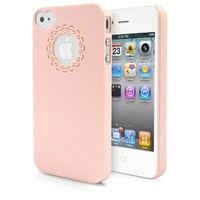 iPhone 4S Case, MagicMobile® Ultra [Slim-Fit] Thin Case for iPhone 4 Cute Lovely [Snap On] Cover with Heart Camera Hole Armor iPhone 4 / 4S Love Case [Anti-Scratch] - Light Pink