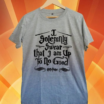 I solemnly swear that i am up to no good New Hot T-shirt Gildan G200L Woman and Mens Sport grey Size S-M-L-XL-XXL