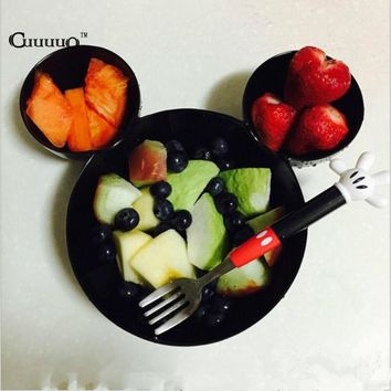 BPA Free Mouse Lunch Box For Kid Infant Baby Feeding Bowl Food Rice Fruit Dishes Fashion Melamine Tableware Child Dinnerware Set