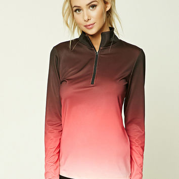 Active Ombre Mock Neck Top