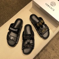 VERSACE Men's Leather Sandals