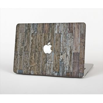 The Straight Aged Wood Planks Skin Set for the Apple MacBook Air 11""