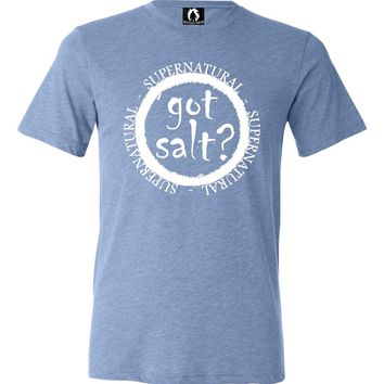 Adult Got Salt? Supernatural Triblend T-Shirt