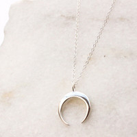 Crescent Grande Necklace - Christine Elizabeth Jewelry