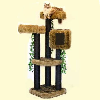 ELEGANT CAT FURNITURE. 5' High Colorado, Sturdy Cat Tower, Best Cat Beds, Designer Cat Tree, Elegant Cat Condo, Modern Cat Tree, Unique Cat