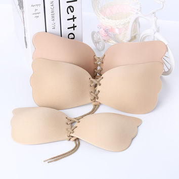 Women Strapless Bra Silicone Push-Up Bra Backless Self-Adhesive Gel Magic Stick Invisible Bra For Women lady Summer Fly Bra New