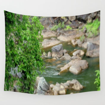 Freshwater Creek - Tropical Quensland Wall Tapestry by Chris' Landscape Images & Designs