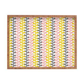 Heather Dutton Sprig Pink Lemonade Rectangular Tray
