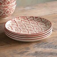 RED FLOWER SALAD PLATES, SET OF 4        -                Dinnerware        -                Tabletop        -                Furniture & Decor                    | Robert Redford's Sundance Catalog