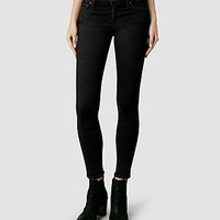 Womens Mast/Black Coated (Black) | ALLSAINTS.com