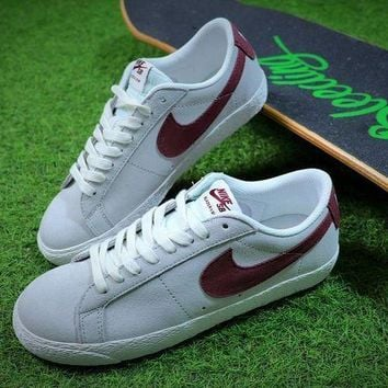 CREYUX5 Nike Blazer SB Grey Red Sport Shoes-1