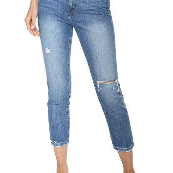 Flying Monkey Distressed Straight Leg Jean