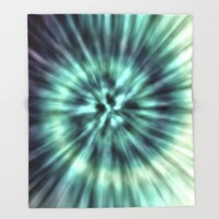 TIE DYE II Throw Blanket by Nika | Society6