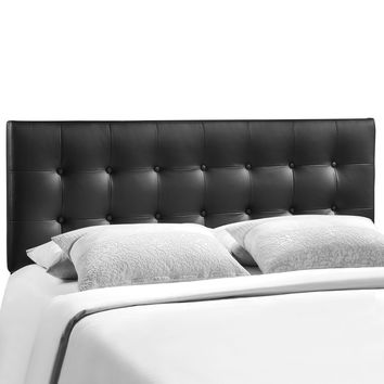 Emily Full Tufted Button Faux Leather Headboard