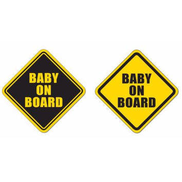 "Baby on Board square shape 4""x4"" bumper sticker sign decal high grade vinyl"