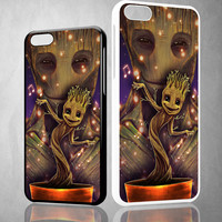 Groot Dancing And Smile Z0190 iPhone 4S 5S 5C 6 6Plus, iPod 4 5, LG G2 G3, Sony Z2 Case
