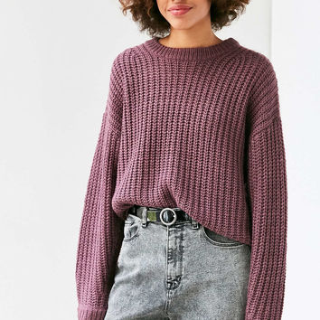 BDG Ashley Waffle Stitch Crew Neck Sweater - Urban Outfitters