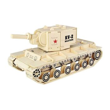 New Kids Toy 3D Wooden Puzzle Kv-2 Heavy Tank Montessori Toys Of High-quality Materials For Adult A Best Gift For Your Kids