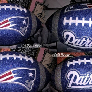 INSTOCK NFL New England Patriots Customized Glitter Football