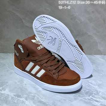 HCXX A521 Adidas EXTABAL 2018 High Leather Suede Casual Skate Shoes Maroon