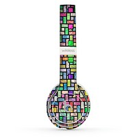 The Colorful Abstract Tiled Skin Set for the Beats by Dre Solo 2 Wireless Headphones