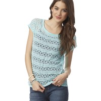 Dolman Lace-Front Top