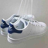 Adidas stan smith men and women trendy casual fashion sports shoes F blue