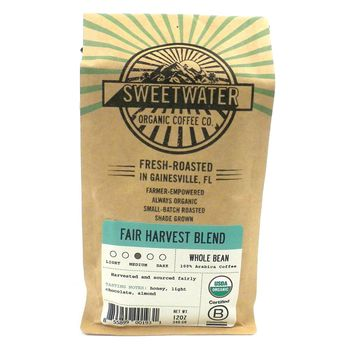 Fair Harvest Blend Organic Coffee 12oz Beans - Sweetwater Coffee