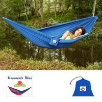 "Hammock Bliss Ultralight - Only 13 oz - Quality You Can Trust - Compact Portable Camping Adventure Hammock - 80"" Rope Included Per Side"