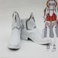 Sword Art Online Anime Asuna Yuuki White Cosplay Shoes Boots custom-made