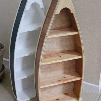 4 Foot row Boat Bookshelf Bookcase shelf Nautical cabin and office Decor Hand