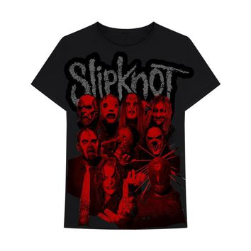 Slipknot Red Faces  - Mens Black T-Shirt