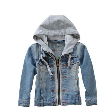 2018 spring clothes for boys and girls denim jacket children's clothing Cotton Kids clothes  high quality coat baby clothes