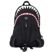 Tobey Womens Man Unisex Shark Backpack Outsports College Tablet School Bag Black