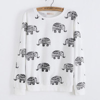 Fashion Elephant round neck sweater
