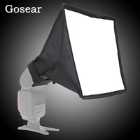 Gosear 17 x 15cm Foldable Photography Flash Softbox Diffuser Soft Box for Canon Nikon Sony Pentax DSLR Camera Accessories