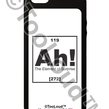 Ah the Element of Surprise Funny Science iPhone 5C Grip Case  by TooLoud