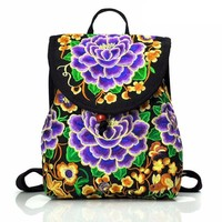Purple Lotus Backpack