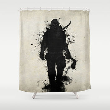 Apocalypse Hunter Shower Curtain by Nicklas Gustafsson