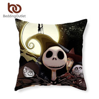 BeddingOutlet Nightmare Before Christmas Cushion Cover Decorative Pillow Covers for Home 45cmx45cm