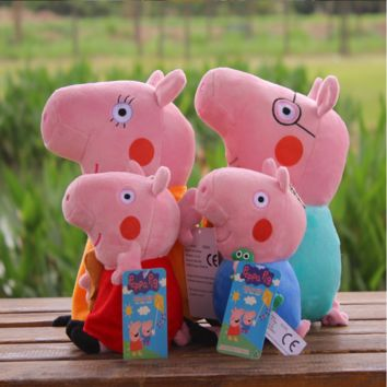 4PC Peppa Pig Official Licensed Family Plush Toy Doll
