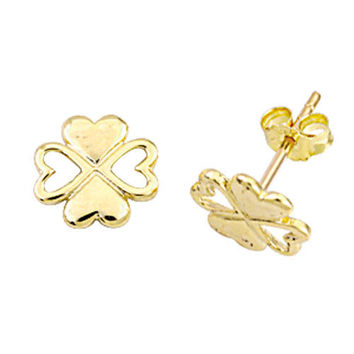 Four Leaf Clover 14k Solid Earring Best Price