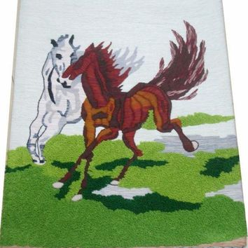 Handmade Art Tapestry Tapestry Wall Mural Room Classic Paintings 'gallop' Special Offer Q22