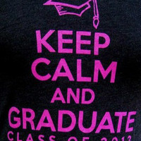 Class of 2013 Black Tank -- Keep Calm and Graduate -- Class of 2013
