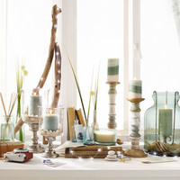 Sea Grass Mottled Pillar Candles
