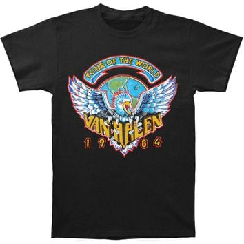 Van Halen Men's  Tour Of World 1984 T-shirt Black