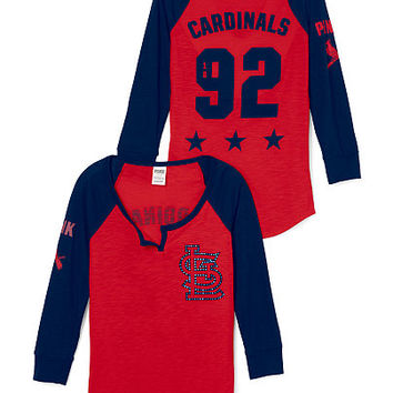 St. Louis Cardinals Split-Neck Baseball Tee - PINK - Victoria's Secret