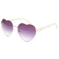 Full Tilt Daisy Heart Singlasses Clear One Size For Women 24320490001