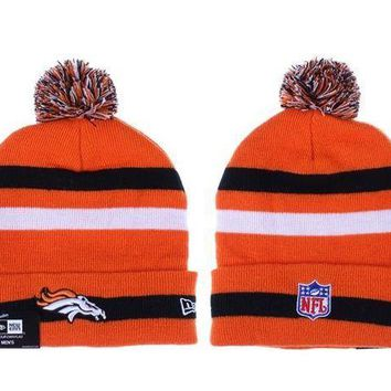 ESB8KY Denver Broncos Beanies New Era NFL Football Cap